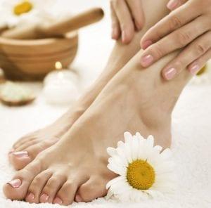 Pflege und Entspannung der Füße
