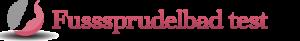 Fußsprudelbad Test Logo